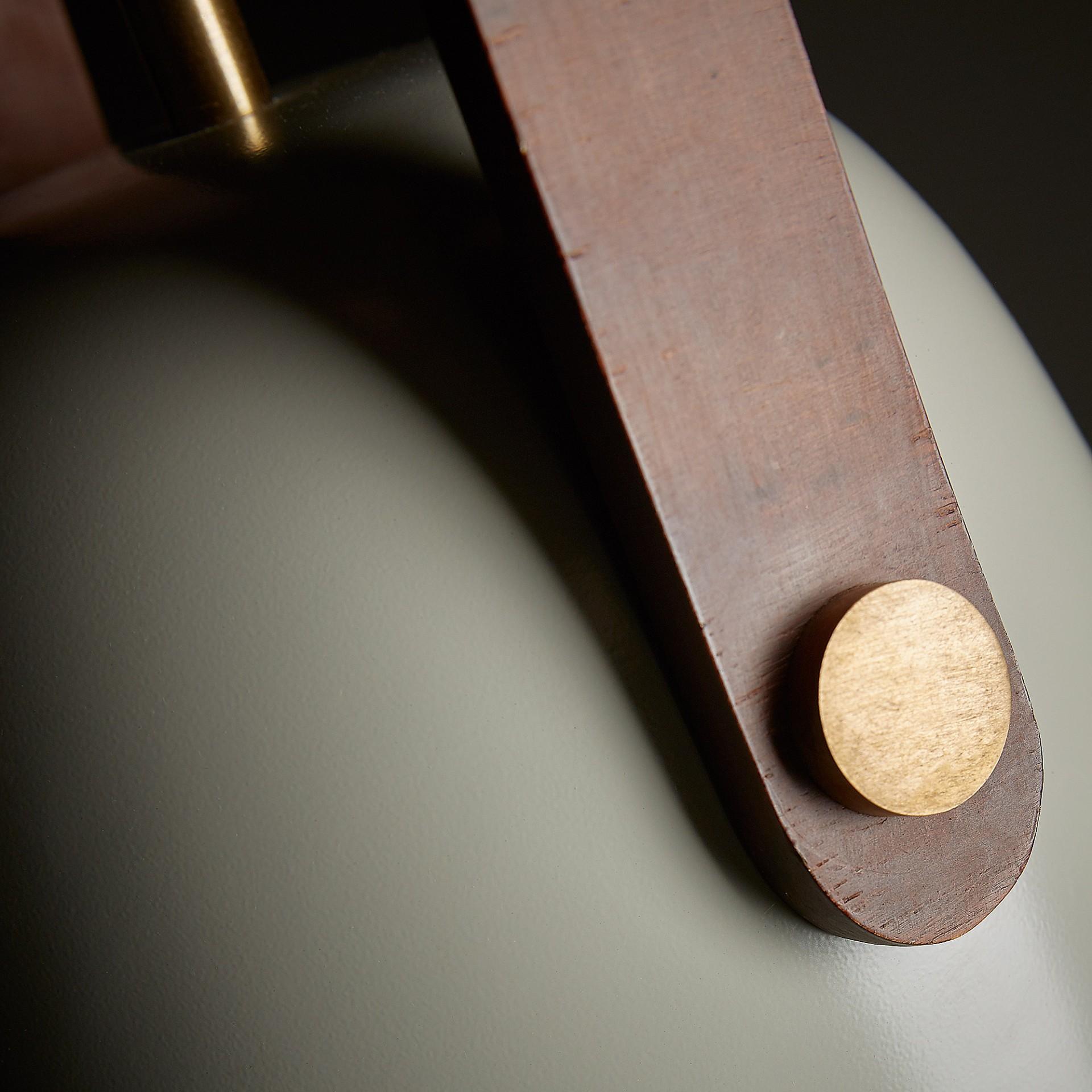 Candeeiro de tecto Zin, metal, bege, Ø25x45 cm