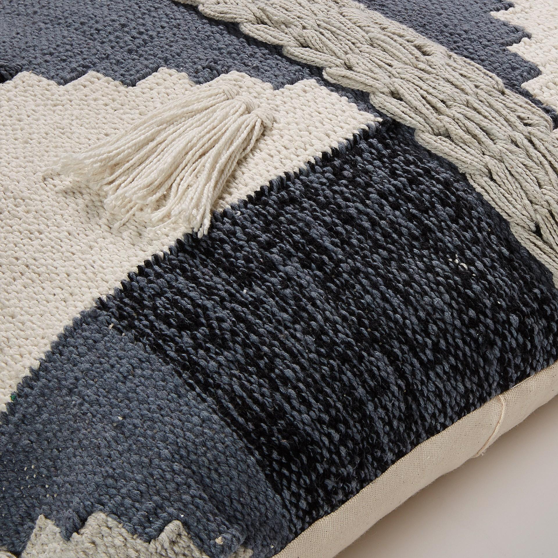 Capa de almofada multicolor, padrão Jacquard, 45x45 cm