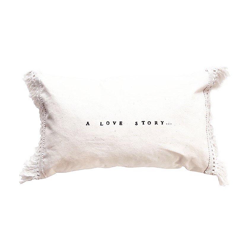 """Almofada """"A love story"""", 25x40 cm"""