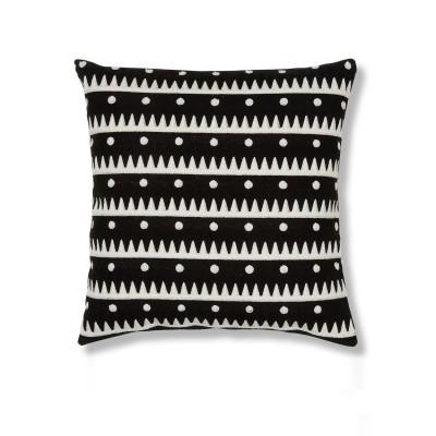 Almofada News, c/padrão bordado, 45x45 cm