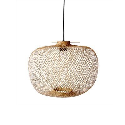 Candeeiro de tecto em bambú natural, Ø42x30 cm