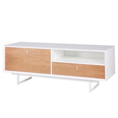 Móvel TV Porto, MDF lacado/madeira carvalho, 58x165 cm