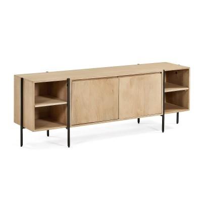Móvel TV Palma, madeira de manga natural, 56x160 cm