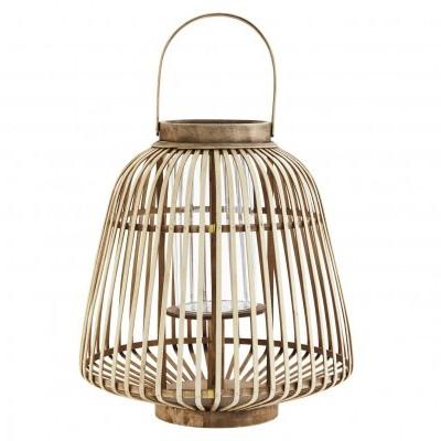 Lanterna decorativa em bambú natural, Ø40x43 cm