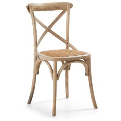 Cadeira Retro em madeira de olmo natural, 88x50 cm