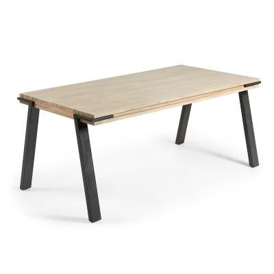 Mesa de jantar em madeira de acácia natural, 200x95 cm