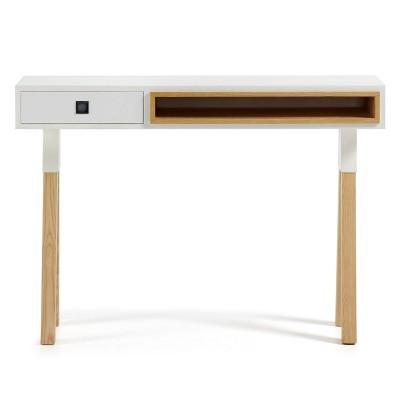 Consola Silk, madeira de freixo/MDF lacado, 84x120 cm