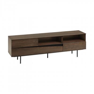 Móvel TV Cutte, madeira de nogueira/metal, 180x40x56