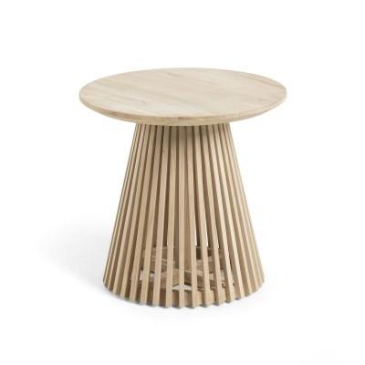 Mesa de apoio Janette, madeira teca natural, Ø50x48 cm