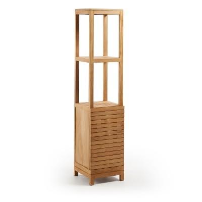 Armário p/casa de banho, madeira teca natural, 40x182 cm