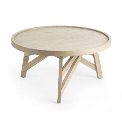 Mesa de centro em madeira mindi, Ø81x42 cm
