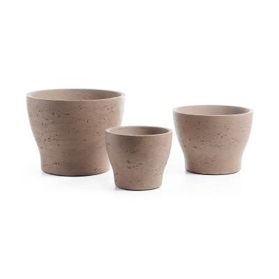 Vasos Brow, concreto, (Conj.3)