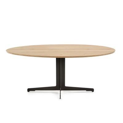 Mesa de jantar em madeira de carvalho/metal, 195x95 cm