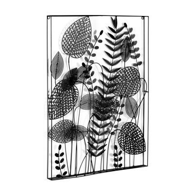 Quadro de parede Decenia, metal, preto, 61x81 cm