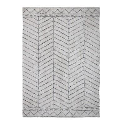 Tapete Berbere, algodão, branco/preto, 200x300 cm
