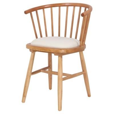 Cadeira Winds, acolchoada, madeira de olmo
