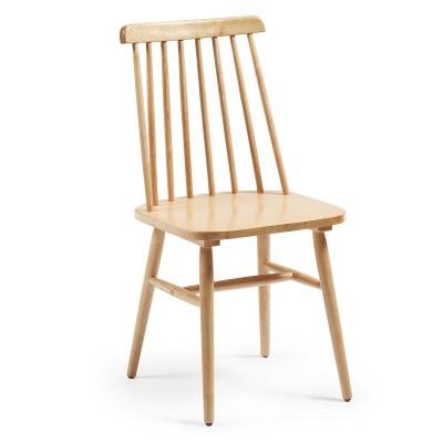 Cadeira em madeira de seringueira, natural