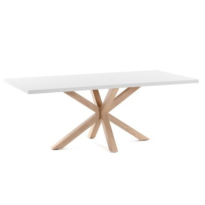 Mesa de jantar Arge, melamina/metal, 200x100 cm