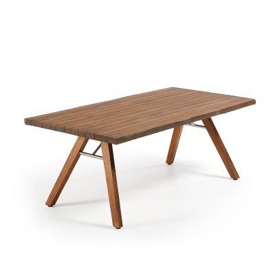 Mesa de jantar em madeira de acácia natural, 200x100 cm