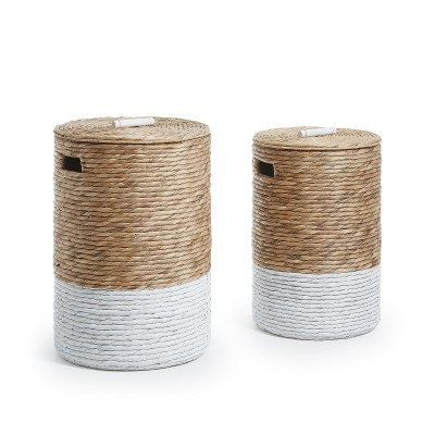 Cestos p/roupa, jacinto-de-água, (Conj.2)