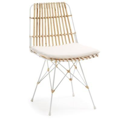Cadeira Isla em vime/metal, c/almofada