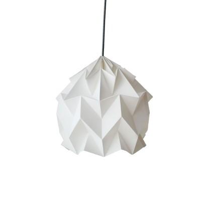 Candeeiro de papel Origâmi, modelo Luzada, branco
