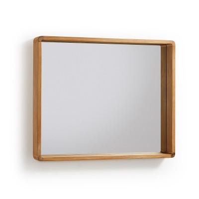Espelho p/casa de banho, madeira teca, 80x65 cm