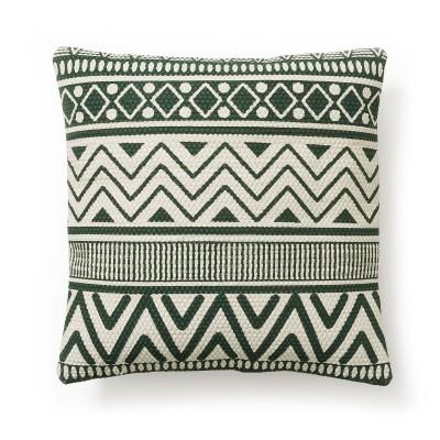 Capa de almofada Stewart, verde/branco, 45x45