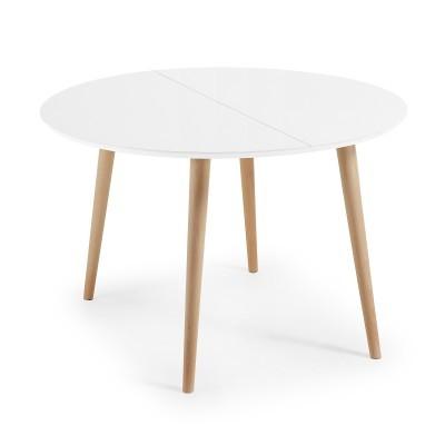 Mesa extensível em madeira, 120(200)x120 cm