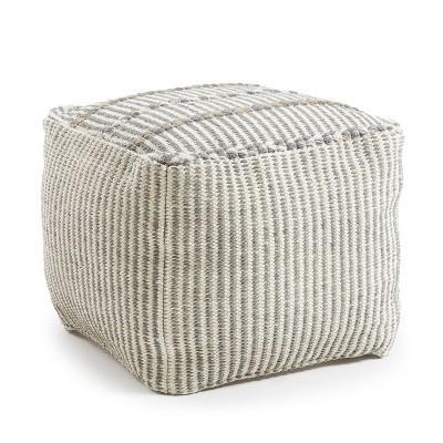 Puff Judy em algodão, removível, Ø50x40 cm