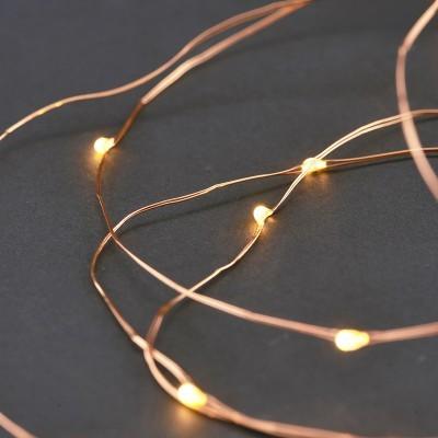 Luzes de natal, dourado, 4 metros