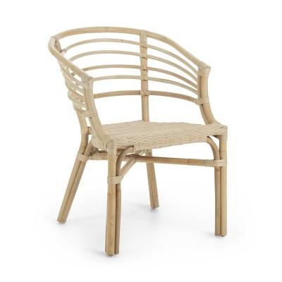 Cadeira c/braços, vime natural