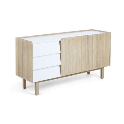 Aparador em madeira de acácia natural, 150x77 cm