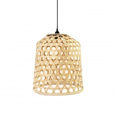 Candeeiro de tecto em bambú, Ø40 cm