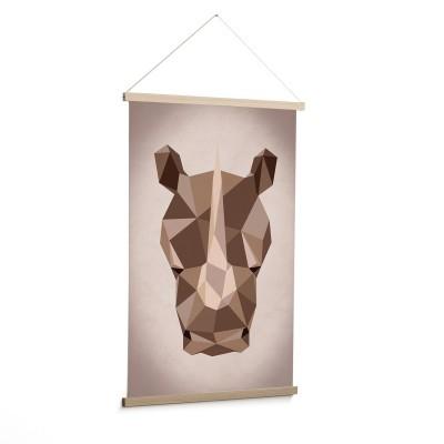 Quadro de parede Nómada, rinoceronte, 60x90 cm