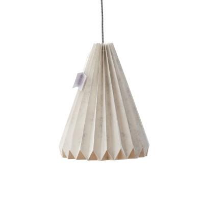 Candeeiro de papel Origâmi, modelo Solpor, mármore
