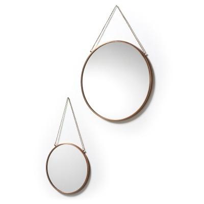 Espelhos Niky, metal, (Conj.2)