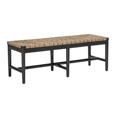 Banco de apoio Luxe, madeira mogno/ervas marinhas, 43x124 cm