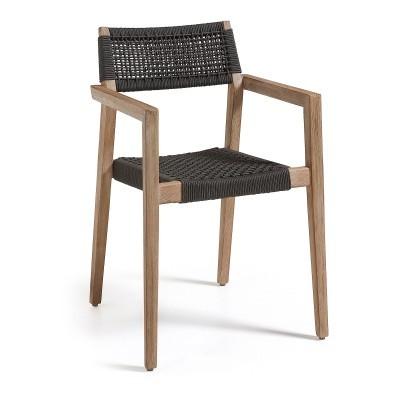 Cadeira Suzy c/braços, madeira de acácia natural