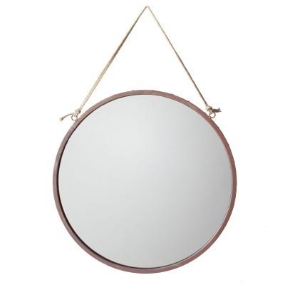 Espelho redondo, marron, Ø46 cm