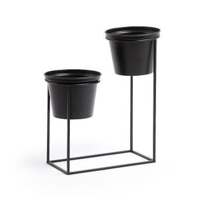 Conjunto 2 vasos, metal, 24x31 cm