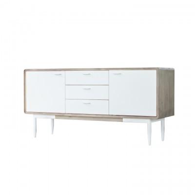 Aparador Florence, madeira acácia/MDF lacado, 75x160 cm