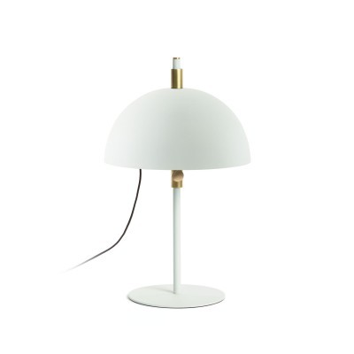 Candeeiro de mesa Sina, metal, branco/dourado, Ø31x50 cm