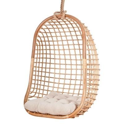 Cadeira suspensa Alis, bambú natural, 70x118 cm