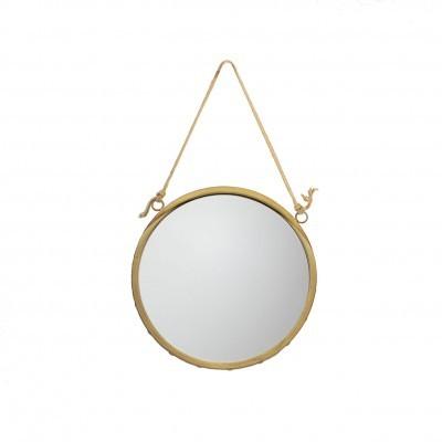 Espelho redondo, dourado, Ø36 cm