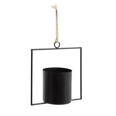 Vaso p/pendurar, metal, 25x25 cm