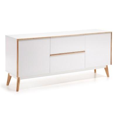 Aparador em madeira de carvalho/MDF lacado, 72x160 cm
