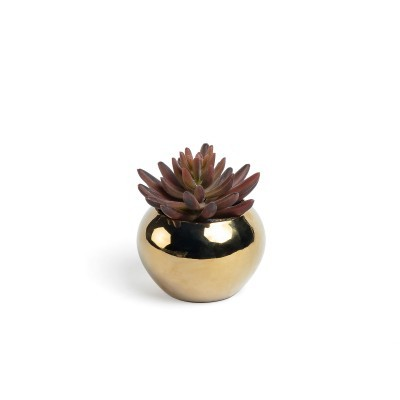 Planta artificial, c/vaso cerâmica, Ø10x12 cm
