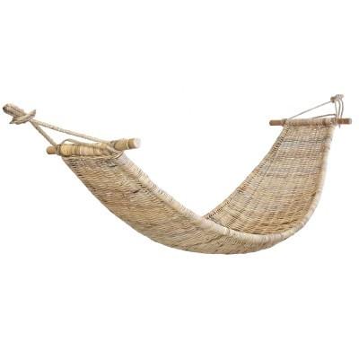 Cama de rede em vime natural, 220x75 cm