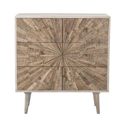 Cómoda Johanna, madeira de manga natural, 80x85 cm